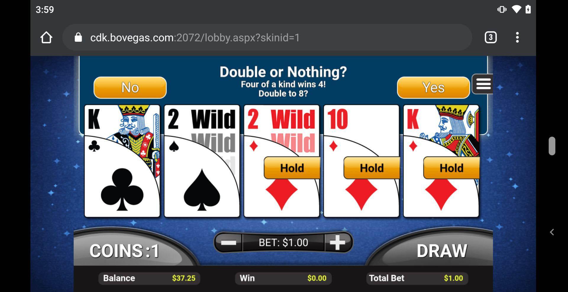 $50 No Deposit Bonus Bovegas