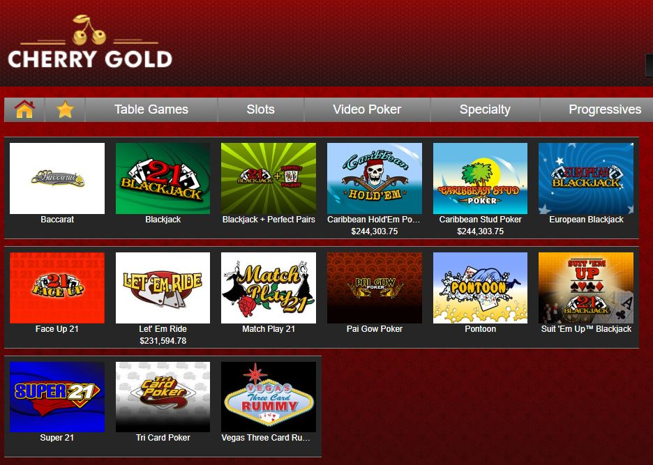 Cherry Gold Casino Instant Play