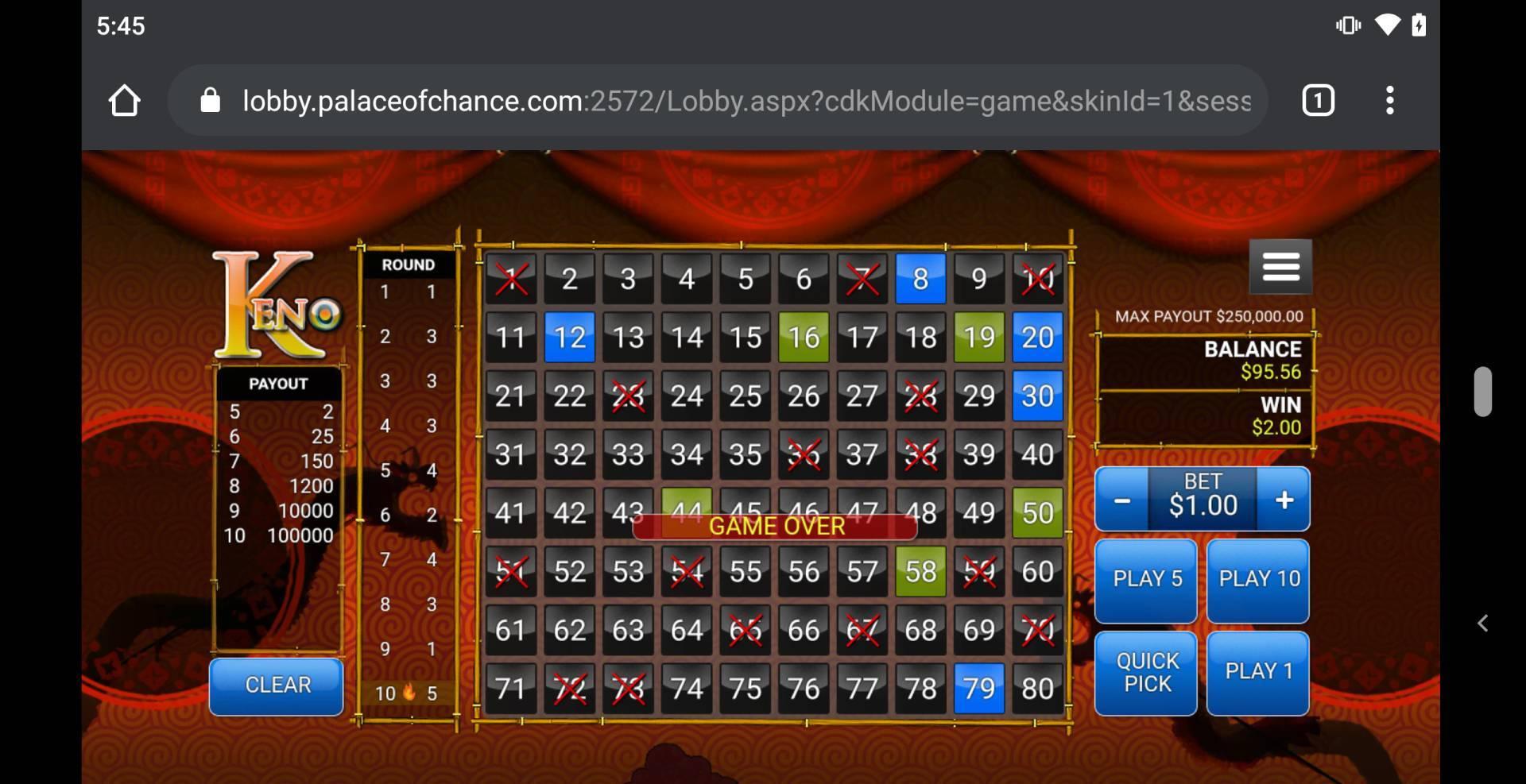 Palace Of Chance Casino No Deposit Bonus